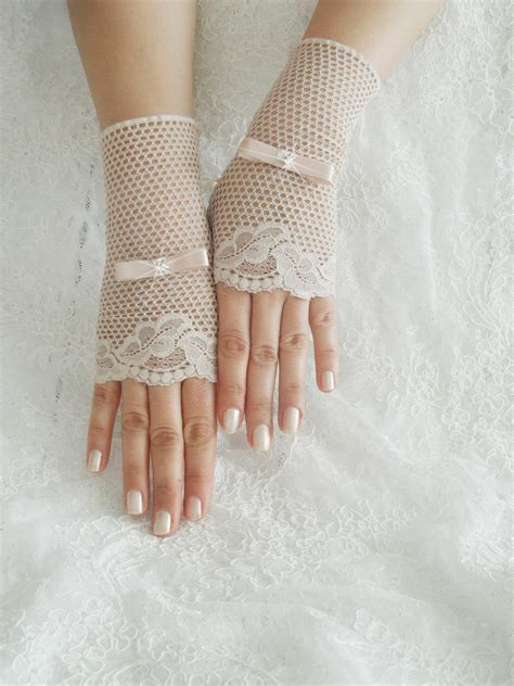 glove peach glove glove bridal glove wedding