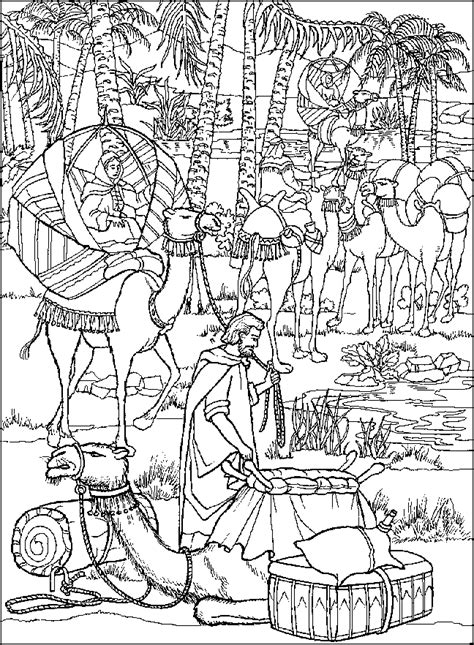 coloring page abraham and lot free coloring pages of abraham and lot