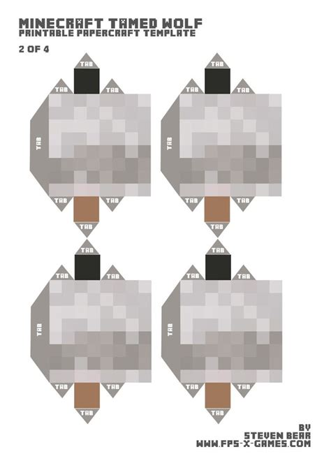 Papercraft Wolf - 33 best images about minecraft papercraft on