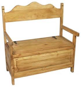 Bathroom Vanity Bench Stool Mexican Rustic Pine Storage Bench Traditional Accent