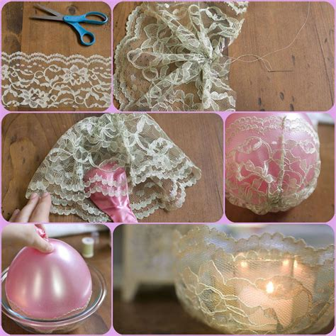 diy candle crafts diy simple lace candle holder fabdiy
