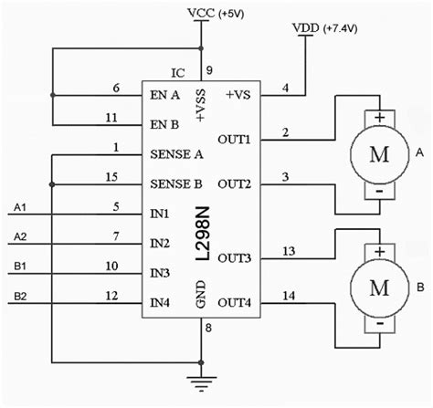l298n circuit diagram use raspberry pi to create obstacle avoiding robot chassis