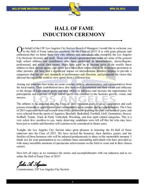 section v football hall of fame los angeles city section 2015 hall of fame induction