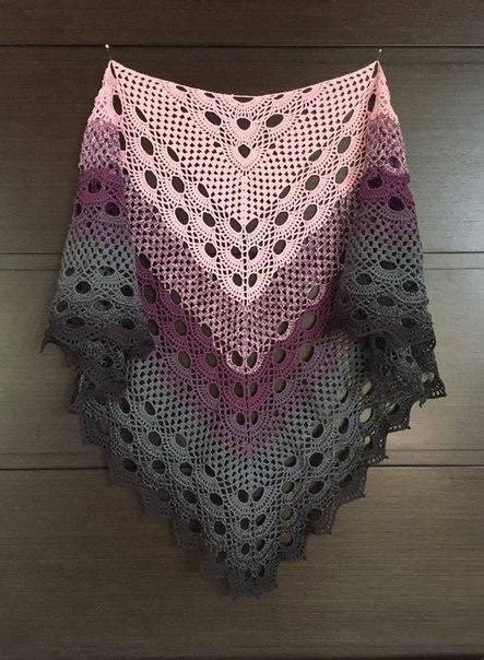 crochet shawl pattern wonderful model  tutorial  graphical