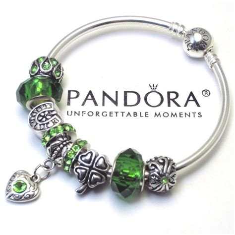 bead shops ireland authentic pandora bangle or barrel bracelet green