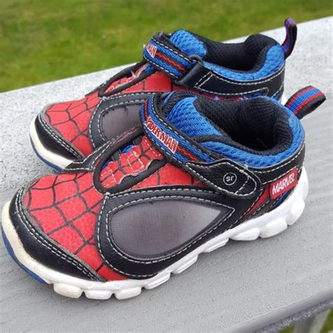 stride rite ultimate spider man light up sneaker 77 off stride rite other spider man light up sneaker by