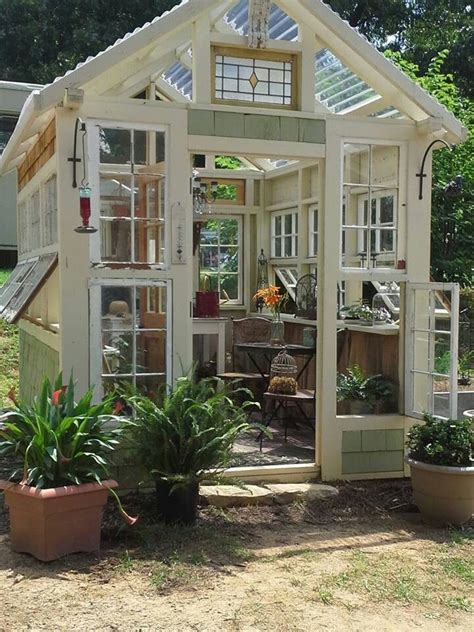 Greenhouse From Salvaged Windows Decor Salvage Greenhouse Greenhouse Ideas