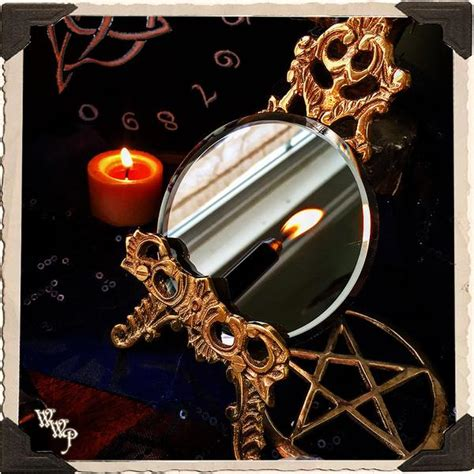 black mirror meaning mini scrying mirror occult divination fortune telling