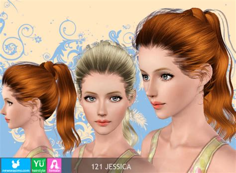 sims 3 high ponytail the sims 3 wrapped high ponytail hairstyle 121 jessica by