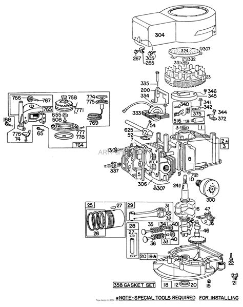 briggs and stratton engine parts diagram toro 16600 lawnmower 1977 sn 7000001 7999999 parts