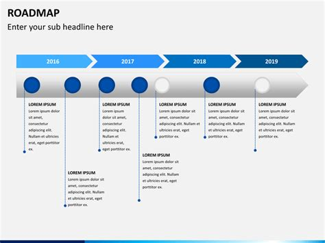 road map powerpoint template roadmap template ppt free