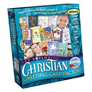 christian greeting card factory ca software