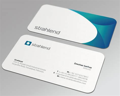 20 cool rounded corner business cards web graphic