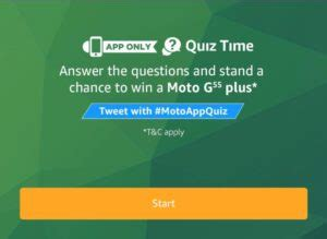 amazon quiz time all answers amazon quiz time answer win moto g5s plus phone