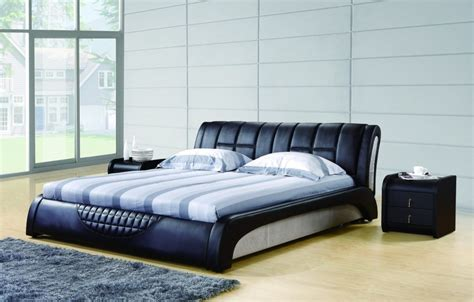 black leather beds 3d rendering bedroom with black leather bed download 3d house