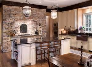 Stone Kitchens Design by Beautiful Kitchens Design Ideas With Stone Walls Hag Design