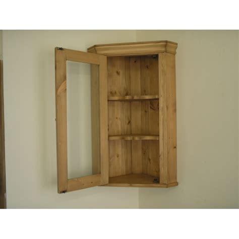 wandschrank kiefer pine corner glazed wall cabinet w51cm