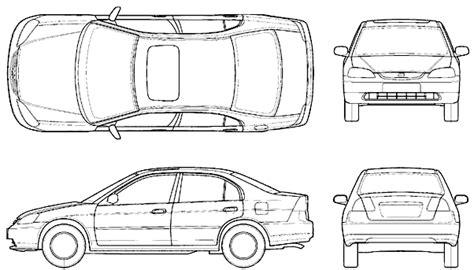 car blueprints чертежи автомобилей honda