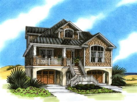 seaside house plans coastal house plans on pilings coastal house plans narrow