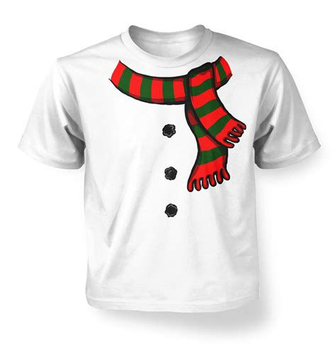 design t shirt for holiday snowman costume kids t shirt