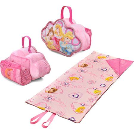disney princess on the go pillow and sleeping bag set