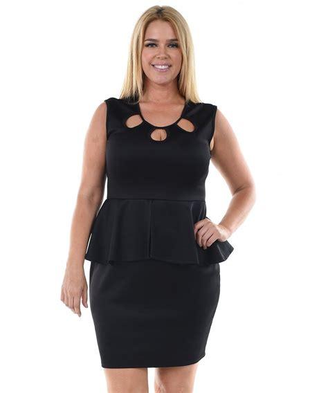 Hq 16696 Hollow Shoulder Dress plus size clothing clothes zone