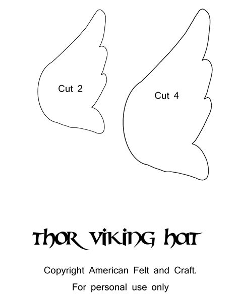 viking template thor inspired viking helmet hat american felt craft