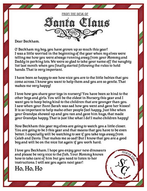 printable sts for santa letters 17 best ideas about official letter template on pinterest