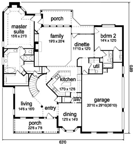 colonial style floor plans colonial style house plan 5 beds 4 baths 3814 sq ft plan