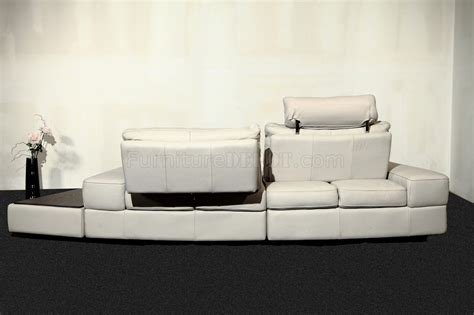 Light Gray Sectional Sofa Modi Sectional Sofa By Beverly In Light Gray Leather