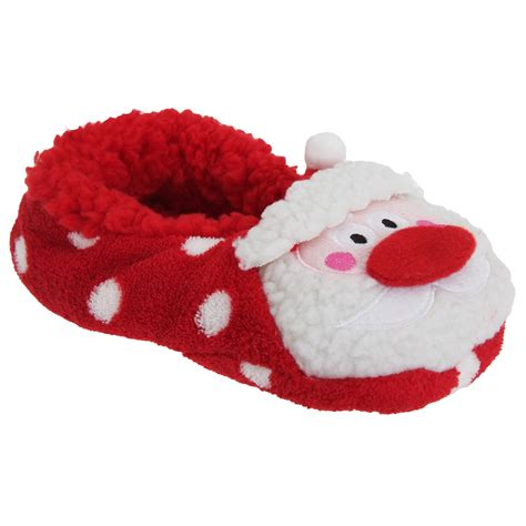 christmas house shoes co zees womens ladies 3d christmas novelty slippers with grips ebay