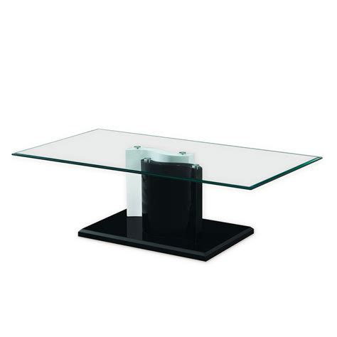 black tempered glass coffee table black and white glossy base kernel tempered glass coffee table