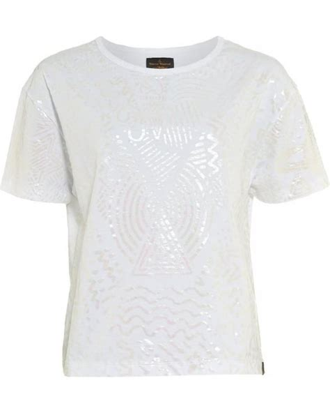 vivienne westwood anglomania tshirt white iridescent