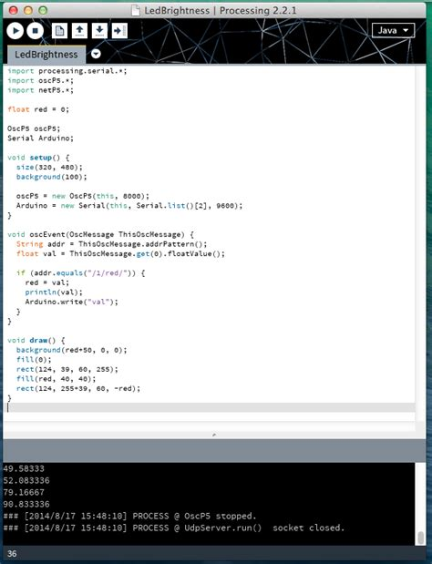 whats wrong   code openosc processing  arduino