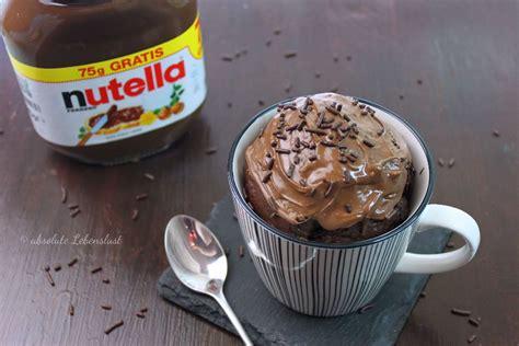 nutella tassen kuchen nutella tassenkuchen rezept f 252 r backofen und mikrowelle