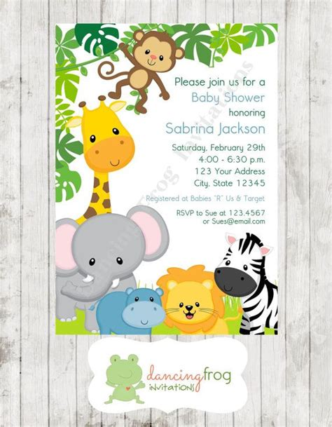 Jungle Animals Baby Shower by Boy Or Animals Jungle Safari Baby Shower