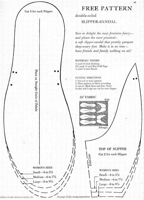 pattern sewing software free what i found free pattern for double soled slipper sandal