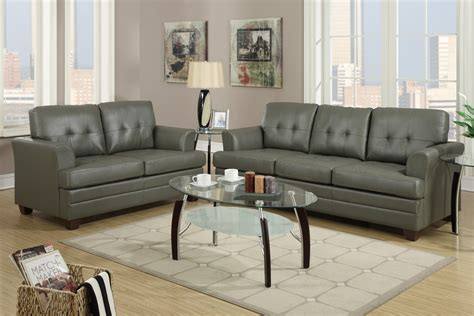 couches and loveseat sets grey leather sofa and loveseat set steal a sofa
