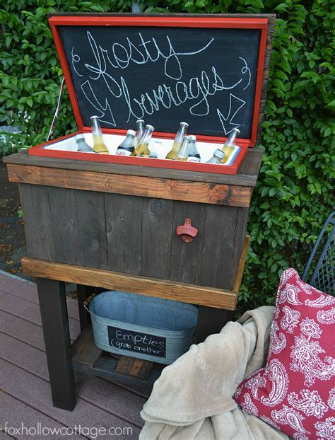 Home Decor Chalkboard by How To Build A Wood Deck Cooler Fox Hollow Cottage