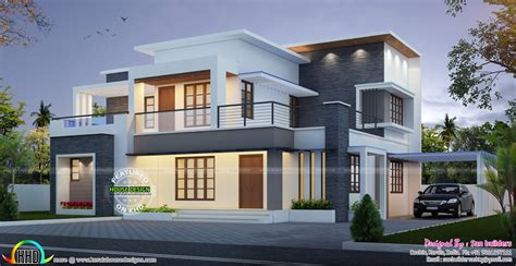 free home elevation design house plan and elevation by san builders kerala home