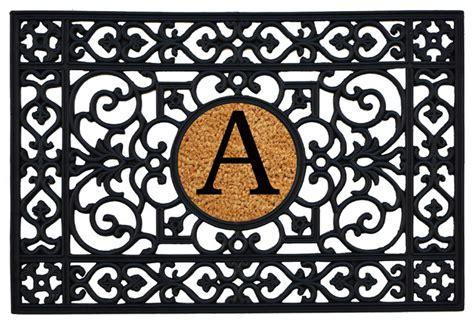 monogram rubber st rubber monogram doormat mediterranean doormats by