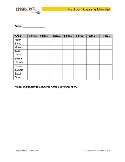 bathroom template public restroom cleaning checklist universalcouncil info