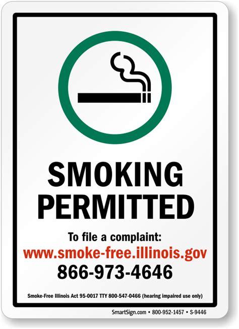 no smoking sign illinois illinois no smoking signs no smoking signs by state
