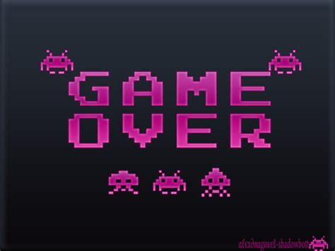 wallpaper game over space invaders wallpaper game over by shadowbott on deviantart