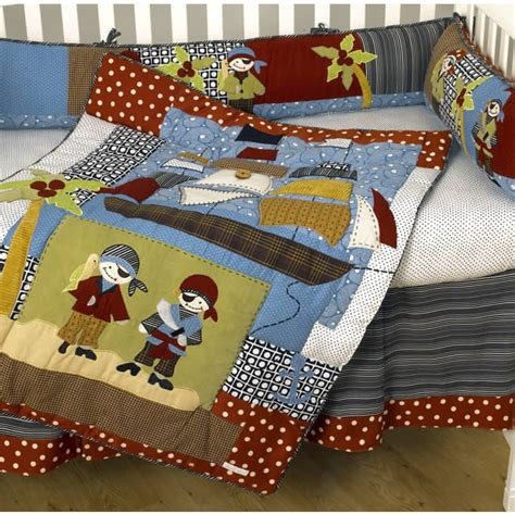 pirate bedding pirates cove 4 piece crib bedding set by cotton tale designs