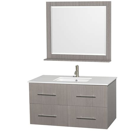42 Inch Bath Vanity by Wyndham Collection Wcvw00942sgowsunsm36 Centra 42 Inch