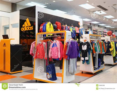 adidas cloth store editorial stock photo image 29865368