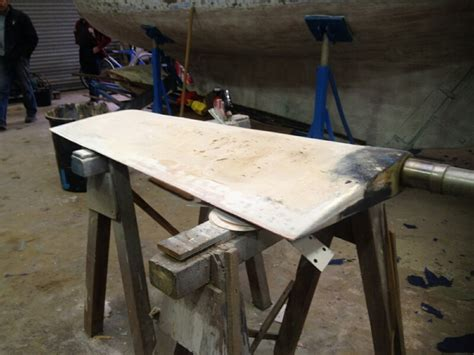 how to build a boat rudder how to use epoxy to fix the rudder of a sailing yacht