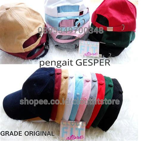 Line Cap Topi Pet jual topi baseball premium polos pengait gesper