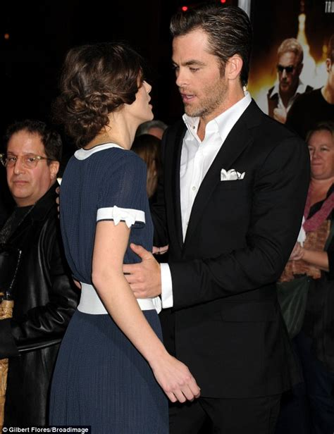 katherine johnson still married chris pine kisses stunning co star keira knightley as she